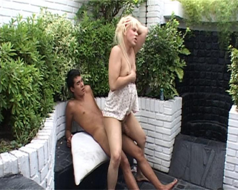 Riding tranny's dick