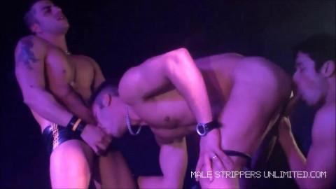 Fernando Albuquerque, Harry Louis & Rafael Alencar having sex on stage