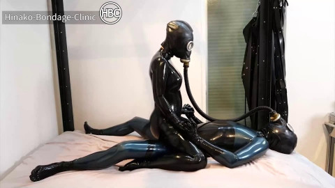 Super restraint bondage and domination for hot wench in latex