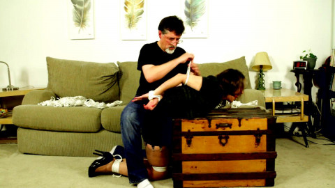 Cinched And Secured - Rachel roped