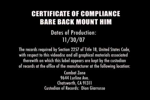 [Combat Zone] Bare back mount him Scene #5