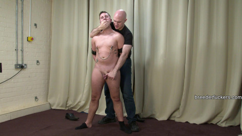 Marc - Stripped of his dress  teats clamped gagged