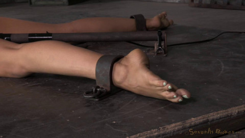 Lyla Storm strictly restrained in stocks