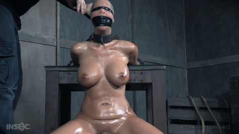 Bondage, spanking and pain for very concupiscent dark brown part 1