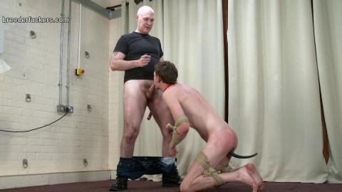 Joe - Arms and legs tied - weenie engulfing training