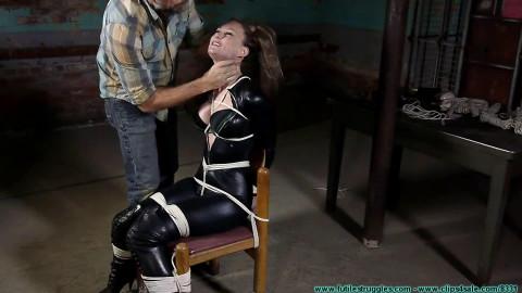 Bondage, domination and predicament for hawt slavegirl