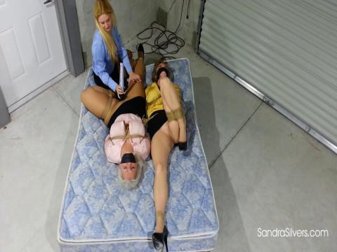Blond Ladyboss Delivers Bondage Orgasms Buxom Secretaries Warehouse! (2017)