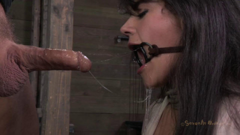 Sexually Broken - Amazing MILF with Booming body, gets her first hardcore bondage threeway!