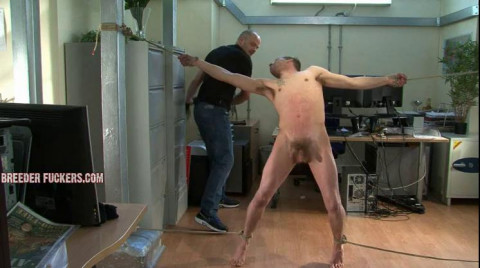 Bobby - Strapped to a spanking bench, ballgagged