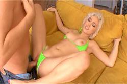 Beautiful blonde slut gets fucked