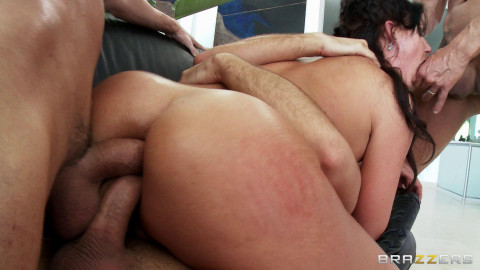 Naughty Sexy Girl Gets Fucked Hard by Four Dudes