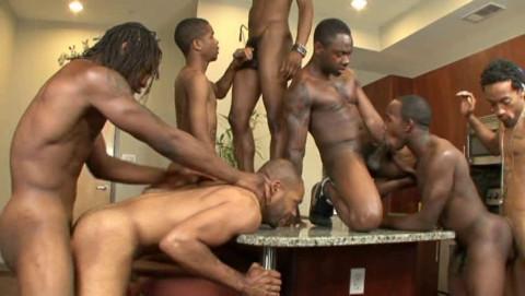 Thug Orgy With Huge Black Dicks