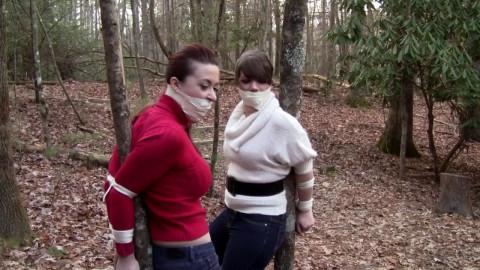 Serene Isley & Elizabeth Andrews - Secretaries bound to trees