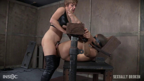 Milcah Halili is bound hooded, gagged, blindfolded, and brutally fucked Part 2
