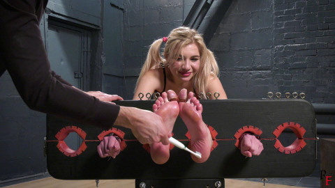 HD Pain play Sex Clips Foot tickling in stocks for pleasant Kristinas soles