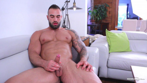 Hot handsome shows his big dick
