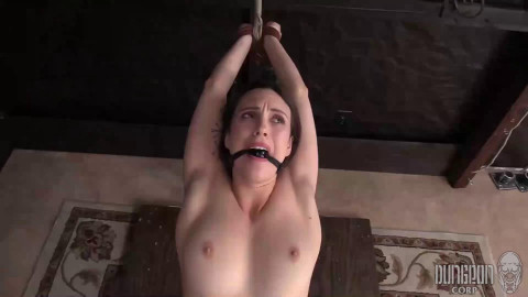 Super restraint bondage, spanking and pain for juvenile model part ASS TO MOUTH
