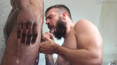 GayRoom - Bearded Fuck At Bathhouse
