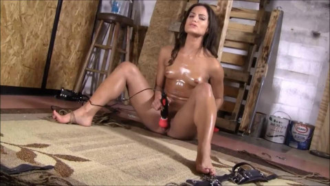 Super restraint bondage, domination and torment for excited exposed beauty Full HD 1080p