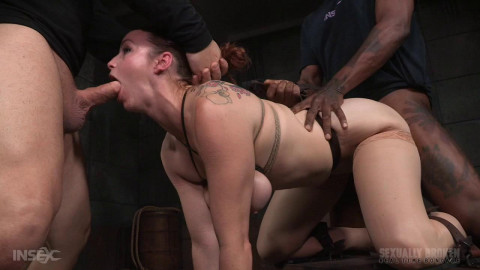Rough doggy style fucking and drooling BBC deepthroat