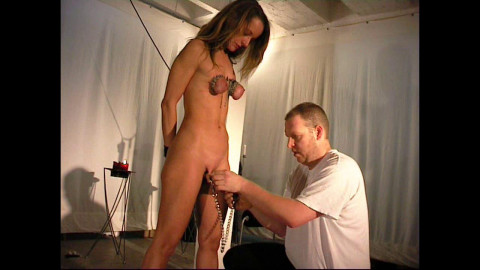 Small Tits in Chains for Slave Doris