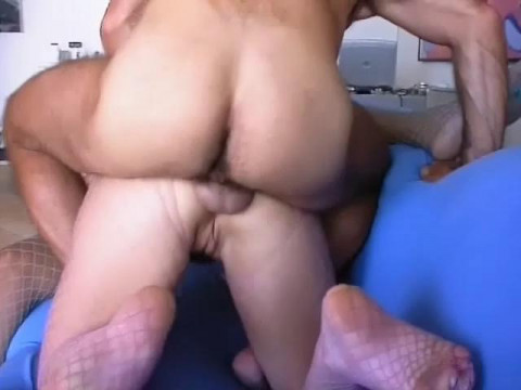 Man, babe and t-girl
