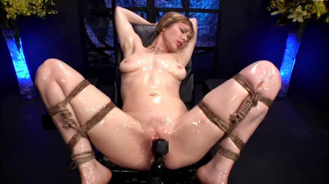 Adrianna Nicole Blonde Restraint Chair And Anal Transformer Aid Liana Nicole (2014)