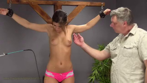 Bondage, spanking and torture for young girl