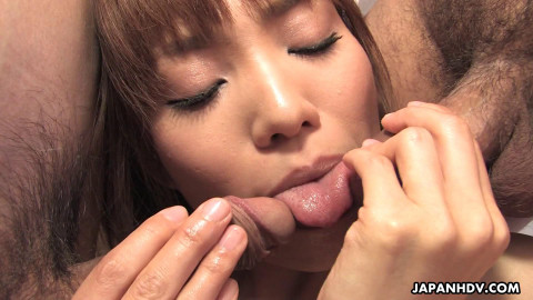 Yui shimizu disrobes and receives filled with weenies and semen