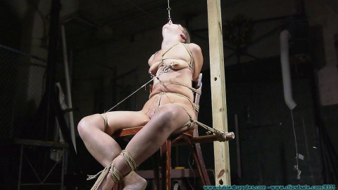 Extreme - Nude chair tie for helpless Rachel - Bondage, Clamps Part#3