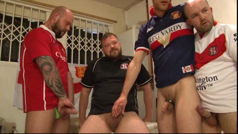 Amazing 5-man Rugby Orgy