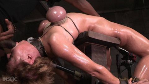 Darling drooling and deepthroating BBC weenie whilst restrained .