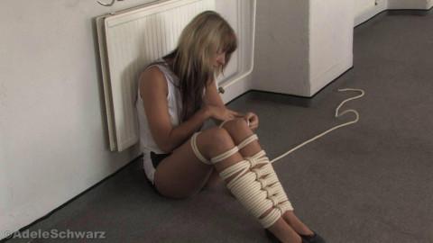 Adele rope Self Bondage