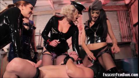 Elena De Luca, Mistress Tangent, Bella Bathory - Strap-on Gangbang
