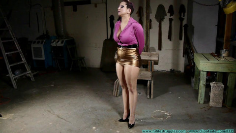 Gia Love Rides the  While Bound in Nylons - Part 1