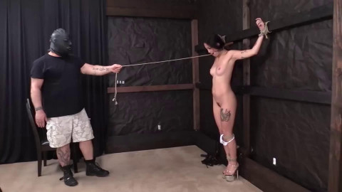 Super tying, spanking and ache for very hot doxy part 1