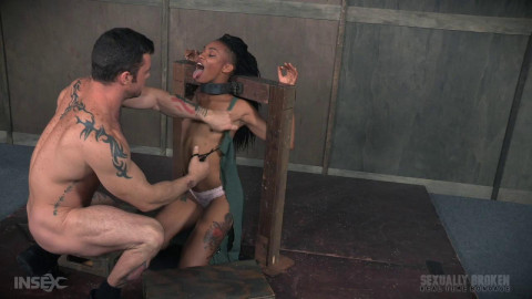 Nikki Darling is throat overloaded
