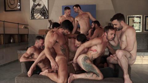 11 Man Bareback Guy Pile HD