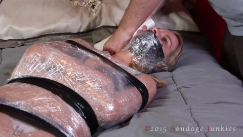 Tight tying, domination and suffering for very hawt blond