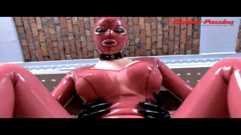 Hard bondage, domination and torture for very hot bitch in latex