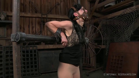 Tight restraint bondage, strappado and suffering for lustful slavegirl part 2 HD 1080