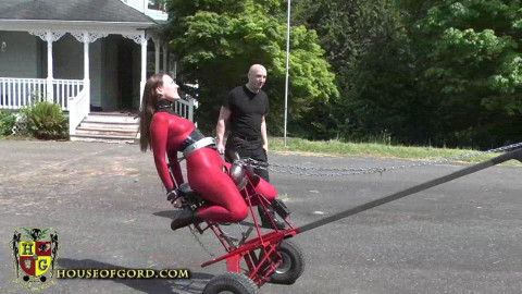 Master Gord - Ponygirl Powered Saddle Fucking Machine HD 2015