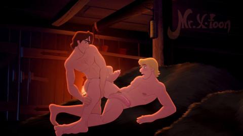 Mr X-Toon - Flynn Rider and Kristoff Bjorgman make homosexual love