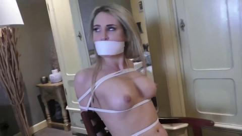 Bondage, domination and wrist and ankle bondage for 2 bare sluts