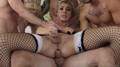 6 Cocks Gangbang With Aubrey Kate