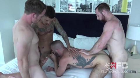 Hot big cocks in raw gangbang