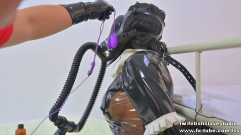 Bondage, torment and domination for hawt beauty in latex