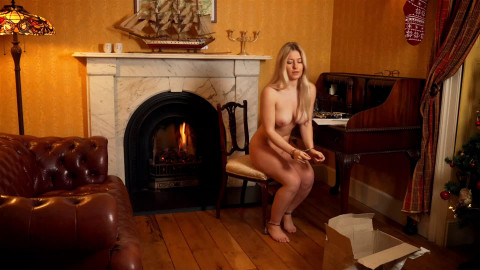 Super restraint bondage, domination and wrist and ankle bondage for very sexy blond