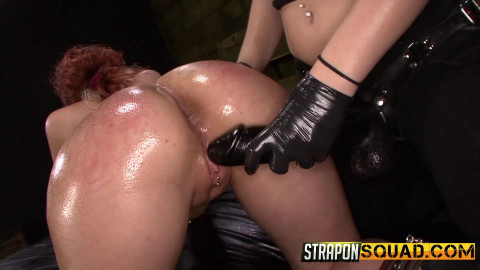 Straponsquad - Apr 15, 2016 - Pain Sub Slut Alessa Snow Endures Lesbian Domination with Kimber