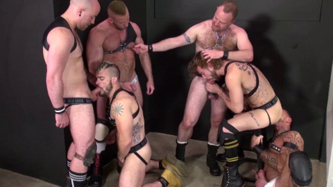 Piss Orgy With Daddies & Young Boys
